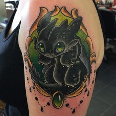 Baby Toothless tattoo
