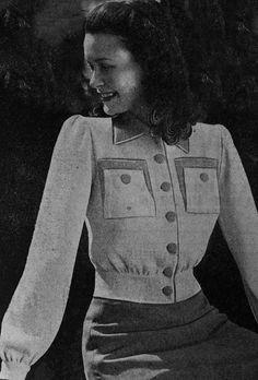 Items similar to Style Lumber Bomber Jacket Vintage Knitting Pattern on Etsy Retro Mode, Mode Vintage, Vintage Style, Vintage Glamour, 1940s Fashion, Vintage Fashion, Club Fashion, Diy Fashion, Fashion Online