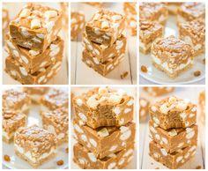 DOCE DE MANTEIRA DE AMENDOIM COM MARSHMALLOW E CARAMELO//  (manteiga de amendoim e caramelo em conjunto, é uma combinação celestial, juntos e os marshmallows, com textura de goma.)      1/2 xícara de manteiga sem sal, amolecida-     1 xícara de empilhamento manteiga de amendoim cremosa (não natural e não caseiros, porque eles são muito líquida)-     2 chips bolsas caramelo -     1/2 colher de chá de sal, ou ao gosto-     Um saco de 350g mini marshmallows, com 1/2 xícara reservado para…