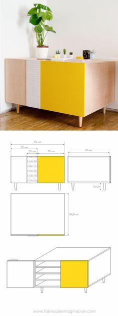DIY Flat files cabinet · DIY Planera · Fábrica de Imaginación · Steps in Spanish