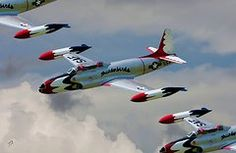 Tommy Anderson Military Images - Tbirds Lockheed T-33 Shooting Star  by Tommy Anderson