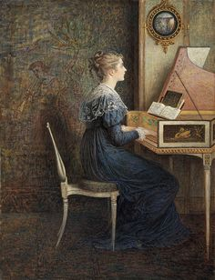 William J. Hennessy 'An Old Song' 1874 watercolor by Plum leaves, via Flickr