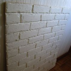 白レンガ壁を発泡スチロールで簡単に|ワークテーブル|みんなでつくるDIY・ハンドメイドレシピ Tile Floor, Flooring, Interior, Design, Projects, Indoor, Tile Flooring, Wood Flooring