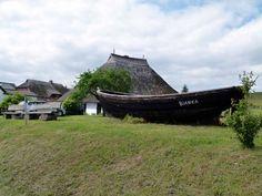 Aquarell malen auf Rügen | Fischerboot beim Pfarrwitwenhaushaus in Groß Zicker (c) Frank Koebsch