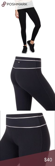 Like New Lorna Jane Quick Step Legging Small Like New Lorna Jane Quick Step Full Length Tight Small. Only worn once. Minimal piling in thigh area. Figure flattering, mid-rise tight ideal for running, cycling and the gym.  Made from LJ Excel™ Classic and Mesh fabrics which are shrink and fade resistant, wick moisture and are quick drying and breathable. Soft, textured mesh paneled waistband with internal draw cord to adjust your fit. Back zip pocket to stash your cash or keys. Reflective…