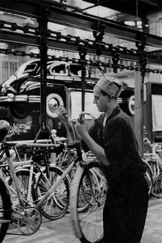 Moscow. 1954. The Zis factory produces bicycles, fridges, trucks and luxury cars, assembled piece by piece and which are the official cars in the USSR.