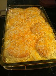 biscuits and gravy egg bake  crazy good!-Made this for a family get-together and that pan was licked clean. This was very good and tasty. Will be making this again and again