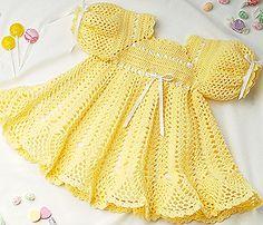 Leisure Arts - Banana Split Baby Dress Crochet Pattern ePattern, $3.99 (http://www.leisurearts.com/products/banana-split-baby-dress-crochet-pattern-digital-download.html)