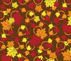 Autumn Leaves Will Fall (Yellow) fabric by robyriker on Spoonflower - custom fabric