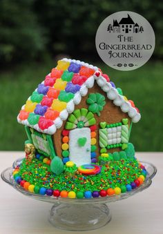 The Shamrock Shack ~ a gingerbread house variation for St. Patrick's Day | tutorial from The Gingerbread Journal