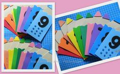 Numerais decorados no tema lápis.  Diversas cores e temas.  Frete sob consulta.