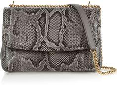 Dolce & Gabbana Margarita Python and Leather Shoulder Bag