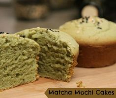 These are some tasty green tea cakes that make a delicious snack or dessert. They are moist and chewy with a slightly crispy exterior and not to overly sweet like regular cupcakes. Click for the recipe. Matcha Mochi Cakes Recipe Video by TheAimlessCook