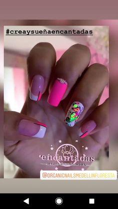 Gorgeous Nails, Pretty Nails, Hello Nails, Neon Nails, Hair And Nails, Nail Design, Work Nails, Classy Gel Nails, Long Nail Art