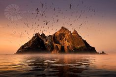 Skellig island where 6th century monks inhabited for centuries in isolation