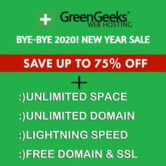 GreenGeeks New Year Sale Extended to Jan 31st! Save Up to 75% on Web Hosting: Get Unlimited Web Space, Unmetered Data Transfer, Free SSL Certificate, Free Domain Name for 1st Year, Free Nightly Backup, Free CDN, Unlimited E-mail Accounts, WordPress Installer/Updates, Unlimited Databases, Standard Performance, LSCache Included, 300% Green Energy Match, 30-Day Money-Back Guarantee. Learn more: