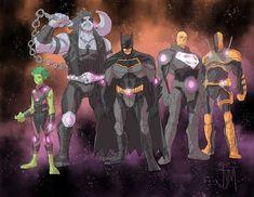 Team Entropy: Lobo, Lex Luthor, Beast Boy, Batman y Deathstroke