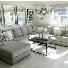 I like the grey couch, light carpet, black table Your room flooring is important. Living Room Grey, Home Living Room, Apartment Living, Living Room Designs, Living Room Furniture, Living Room Decor, Living Spaces, Bedroom Decor, Living Room Inspiration