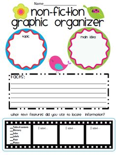 Need more organization in your life? Then check out this graphic organizer!