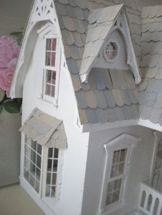 Blank Canvas White Wood Orchid Dollhouse by cinderellamoments Pink Dollhouse, Dollhouse Kits, Orchid House, Fairy Tree Houses, Cinderella Moments, Miniature Orchids, Tiny Furniture, Dollhouse Accessories, Miniature Houses
