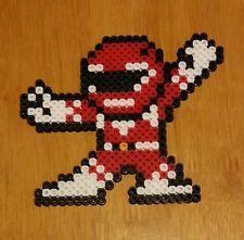 Mighty morphin power rangers red ranger perler beads figure