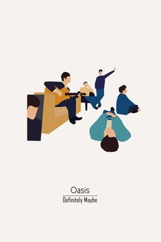 Definitely Maybe by Oasis Album Cover Poster - Music Inspired Art Minimalist Music, Minimalist Poster, Music Love, Rock Music, Banda Oasis, Oasis Album, Oasis Music, Definitely Maybe, Oasis Band