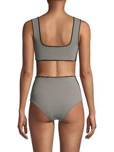 e690acb0a5f56 Marysia Swim Tarpum Bay Bikini Top - Panna Black Large