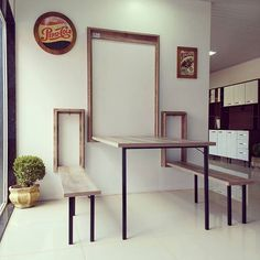 Home Decor -Interior Space Saving Solutions Furniture, Interior, Wall Dining Table, Home, Home Furniture, Space Saving Dining Table, Diy Home Decor, House Interior, Home Decor Furniture