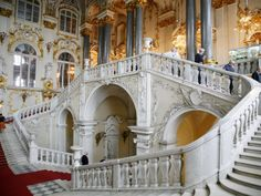 main staircase in the Romanov winter palace