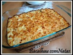 Bacalhau com Natas, receita fácil e deliciosa