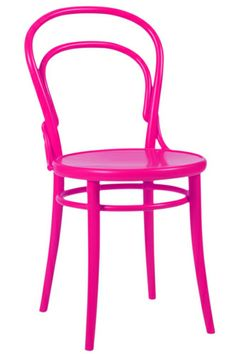 Hot pink chair Thonet -