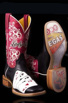 Tin Haul Boots Women's Lady Luck With Vegas Cowgirl Boots on sale @ HeadWest Outfitters!