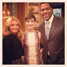 Actress Anne Hathaway was on #KellyandMichael to talk about her new film Les Miserables.