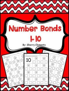 Number Bonds 1-10  This packet of number bond activities provides for differentiation. The first ten pages require students to complete the number bond by filling in one of the missing parts to create the whole number listed. Pages 11-20 only have the whole number listed allowing students to fill in the two parts and choosing their own number combination for the whole number. - Kindergarten - First Grade - Second Grade - Homeschool - Sherry Clements - $