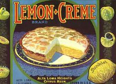 Lemon crate label art, Sunkist