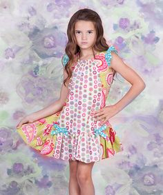<p+style='margin-bottom:0px;'>Columns+of+delightful+prints,+bitty+bows+and+ruffled+angel+sleeves+lift+this+sweet+dress+up,+up+and+away+in+over-the-top+charm.+The+pullover+design+makes+it+easy+for+cuties+to+get+dressed+each+morning.<p+style='margin-bottom:0px;'><li+style='margin-bottom:0px;'>100%+cotton<li+style='margin-bottom:0px;'>Machine+wash<li+style='margin-bottom:0px;'>Imported<br+/>