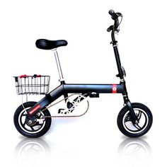 Folding Electric Bike, pedal or run on electric power, your choice. This would be a definite buy for me if I still lived in the city!