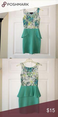 Dress Teal XS dress. Lots of stretch. Pleaded ruffle around the waist. Dresses Mini