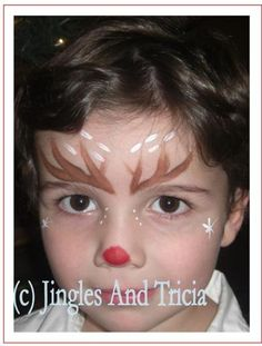 Jingles and Tricia: Little Boy Reindeer Face Painting