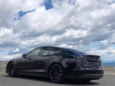 black tesla model S - chrome delete murdered out Tesla Model S Black, Murdered Out, Tesla S, Supercars, Chrome, Around The Worlds, Dreams, Super Car
