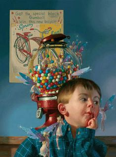 'Gumball Deal' by Bob Byerley      ...Who should he listen to?...