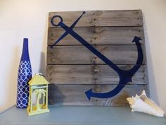 Nautical Anchor Pallet Sign by wenderfuldesigns on Etsy