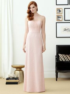 4de94d648ad Dessy Vivian Diamond Bridesmaid Dress Size 12 Blush Pink Formal Prom Long  Gown