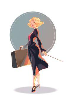"""Voici mon illustration pour le """"Character Design Challenge"""" sur le thème d'Harry Potter. J'ai choisi de représenter Queenie Goldstein du film """"Les Animaux Fantastiques"""" ……………………………………………….. Anthony Caravaca"""
