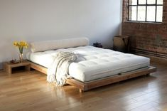 Platform Bed And Side Table
