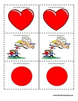 Valentine's Day Matching Game: -  Pinned by @PediaStaff – Please Visit http://ht.ly/63sNt for all our pediatric therapy pins