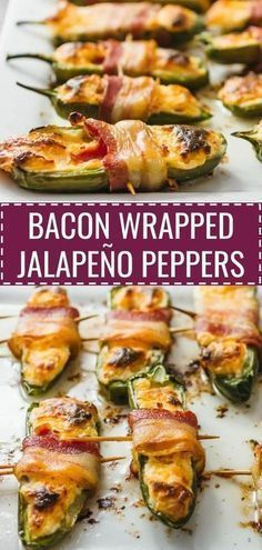 You'll love these bacon wrapped jalapeño peppers stuffed with cream cheese and shredded cheddar. Similar to jalapeño poppers except that these are low-carb and baked in the oven… Ingredients … Jalapeno Bacon, Cream Cheese Jalapeno Poppers, Fried Jalapenos, Jalapeno Popper Recipes, Cream Cheese Stuffed Jalapenos, Bacon Wrapped Jalapeno Poppers, Stuffed Jalapeno Peppers, Baked Stuffed Jalapenos, Healthy Jalepeno Poppers