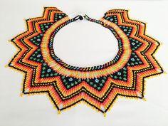 Tribal Jewelry, Beaded Jewelry, Handmade Jewelry, Beaded Necklaces, Brick Stitch Earrings, Mexican Jewelry, Nativity Crafts, Native Beadwork, Beaded Crafts