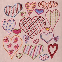 Looking for your next project? You're going to love Hearts Embroidery Pattern by designer Wendi Gratz.