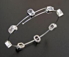 Sapphire, Steel and Platinum Bracelet by James de Givenchy #Taffin #JamesdeGivenchy #Bracelet